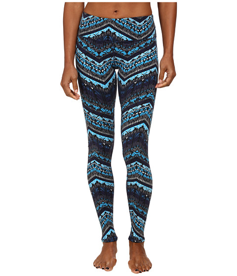 ALO - Airbrushed Legging (Seaport Blue Islandic Print) Women's Workout
