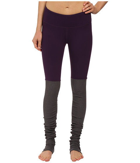 ALO - Goddess Ribbed Legging (Purple Pennant/Stormy Heather) Women's Workout