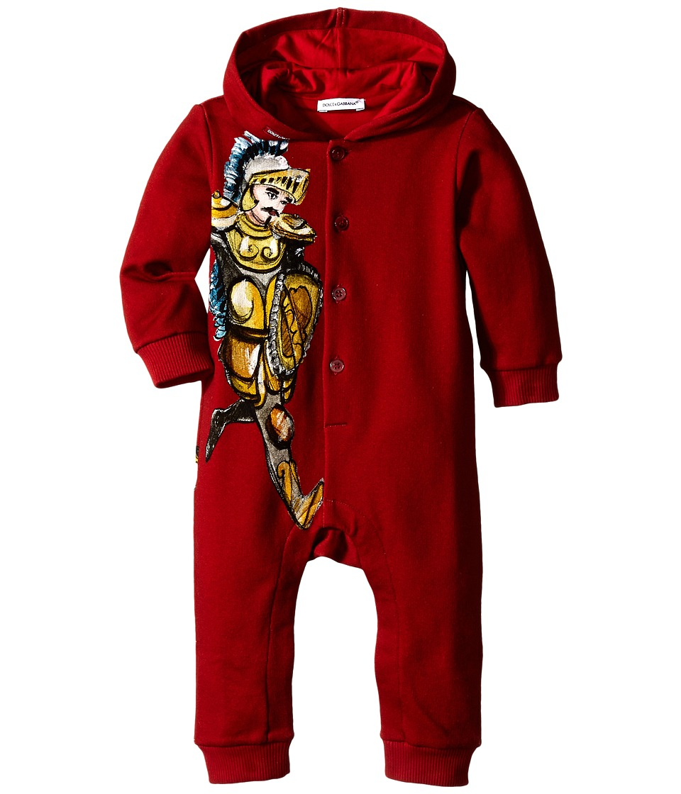 Dolce & Gabbana Kids - King Hooded One-Piece (Infant) (Burgundy) Boy's Jumpsuit & Rompers One Piece