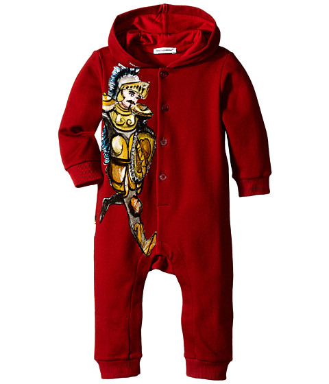 Dolce & Gabbana - King Hooded One-Piece (Infant) (Burgundy) Men's Jumpsuit & Rompers One Piece