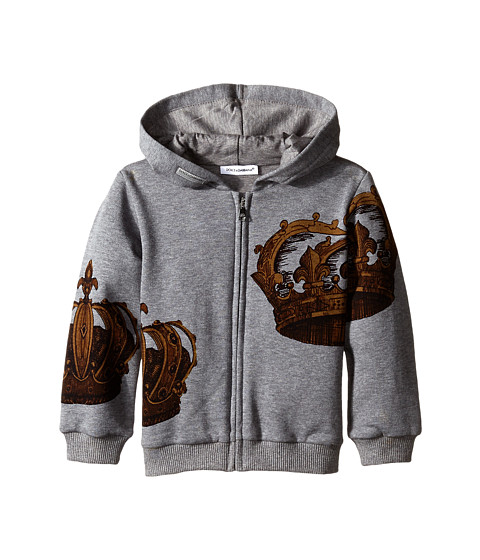 Dolce & Gabbana - Crown Hoodie (Infant) (Grey) Men's Sweatshirt