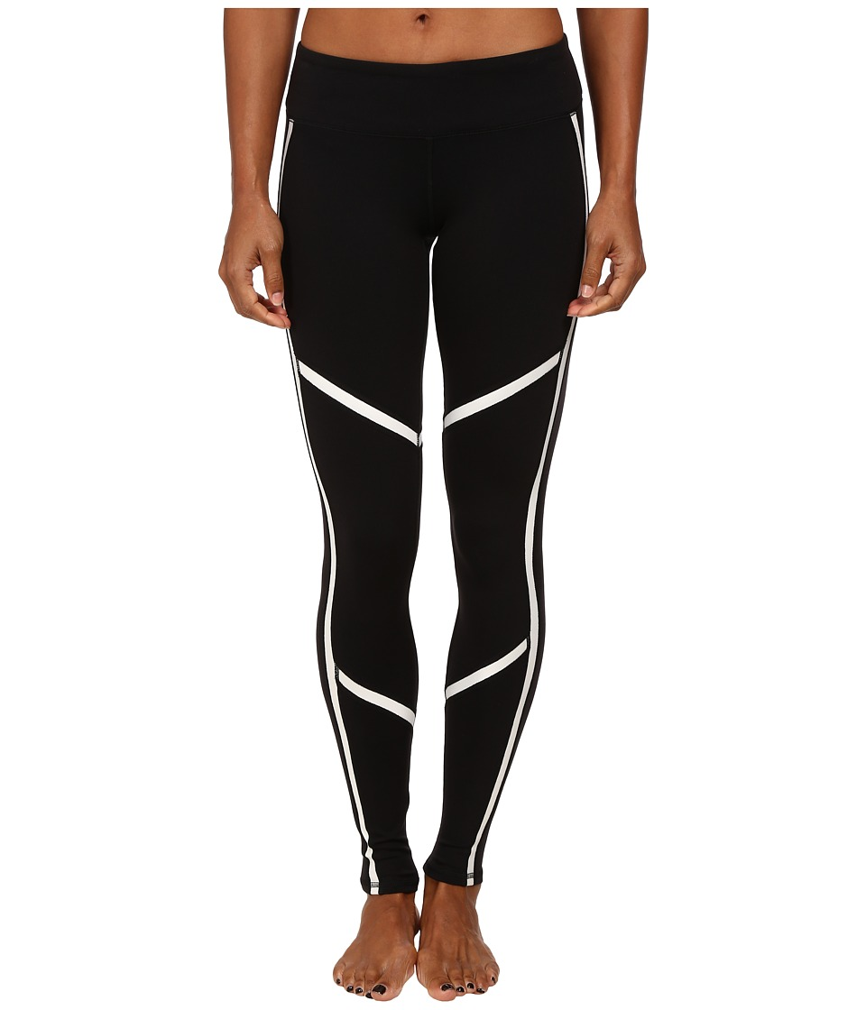 ALO - Talia Legging (Black/Natural Glossy) Women's Casual Pants