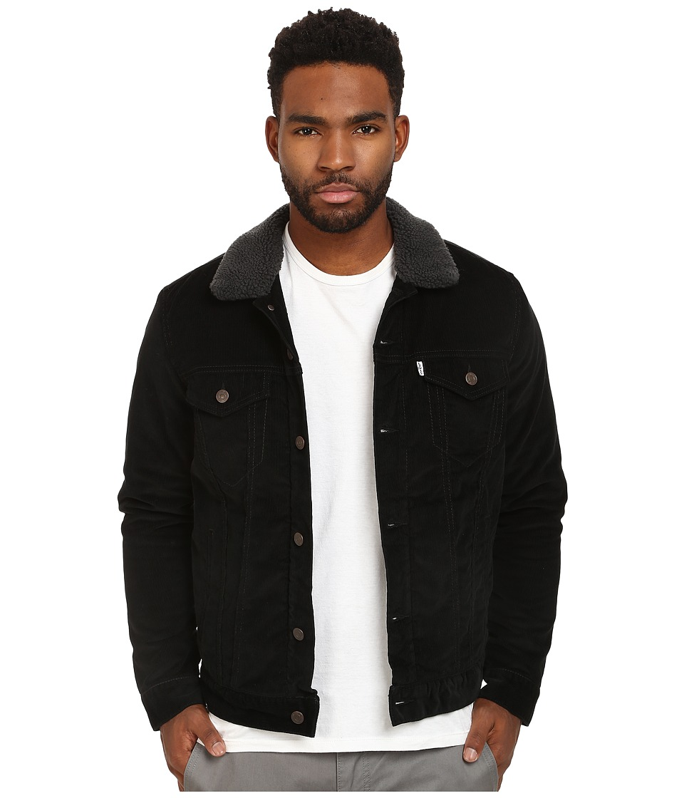 Levi's(r) Mens - Sherpa Trucker Jacket (Black Corduroy 2) Men's Coat