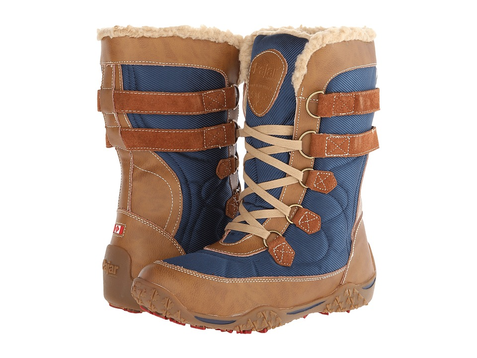 Pajar CANADA - Aventure Low Boot (Cognac/Navy) Women's Hiking Boots