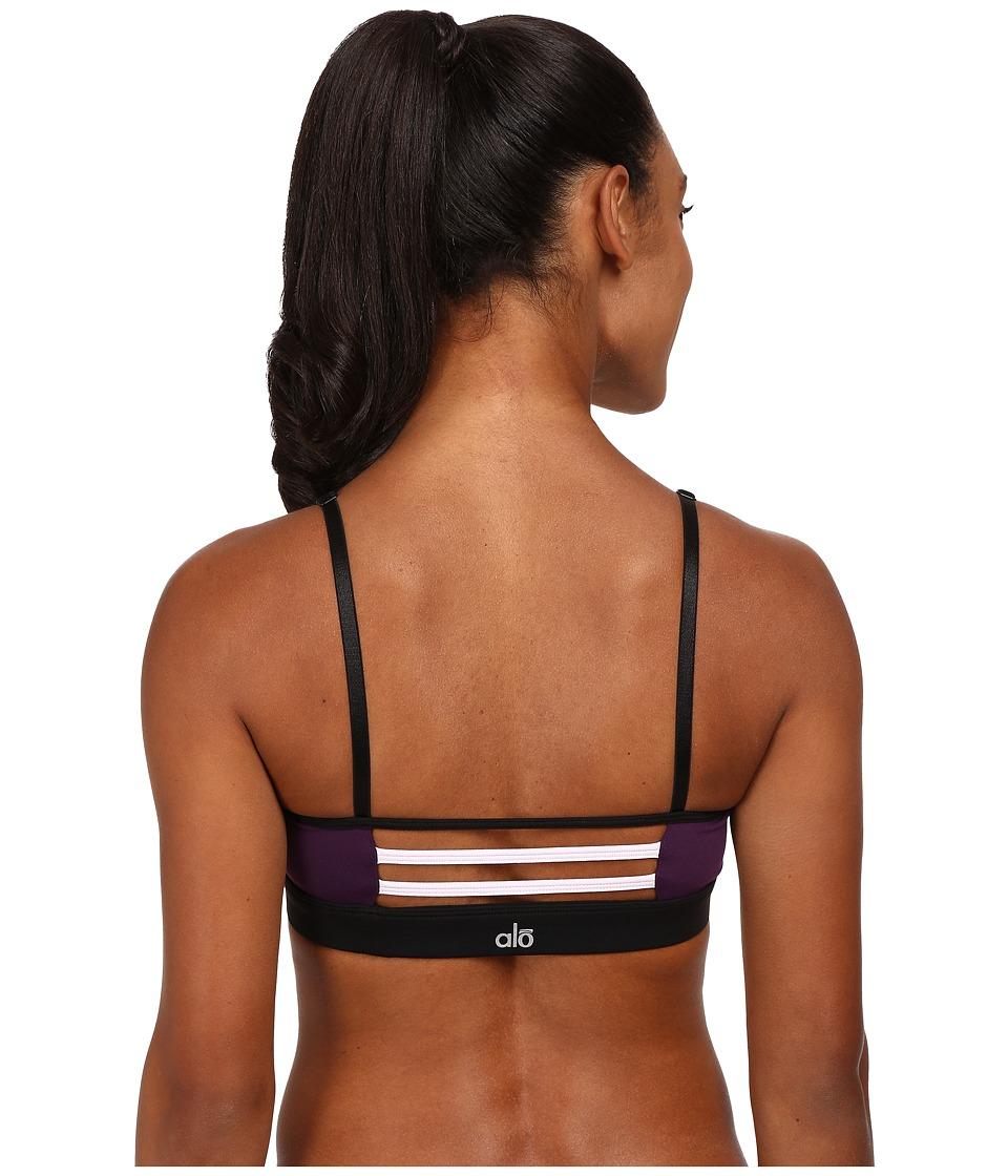 ALO - Trace 2 Bra (Lavender/Purple Pennant/Black) Women's Bra
