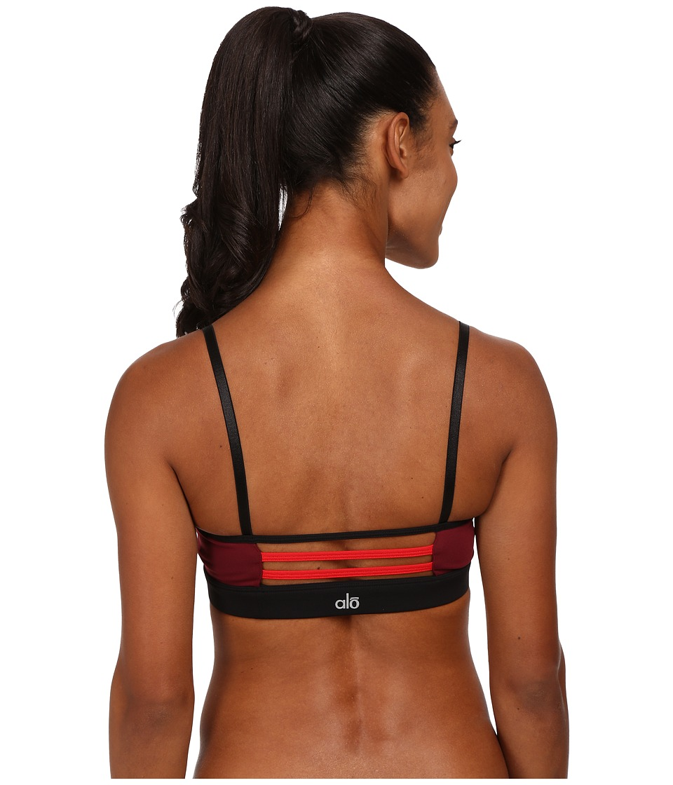 ALO - Trace 2 Bra (Ruby Red/Deep Plum/Black) Women's Bra