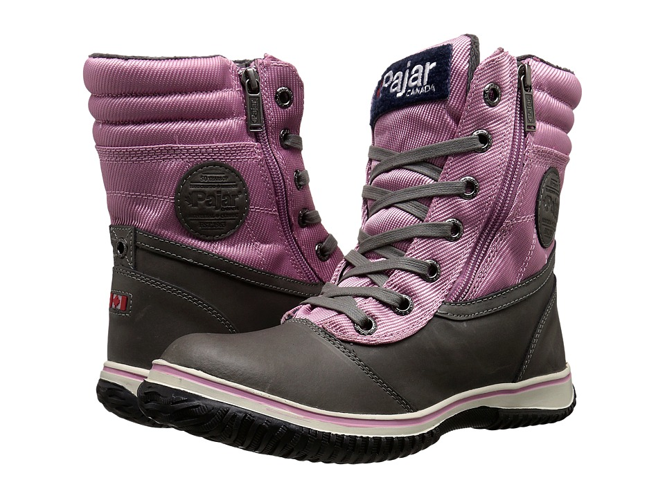 Pajar CANADA - Leslie (Dark Grey/Lavender) Women's Hiking Boots