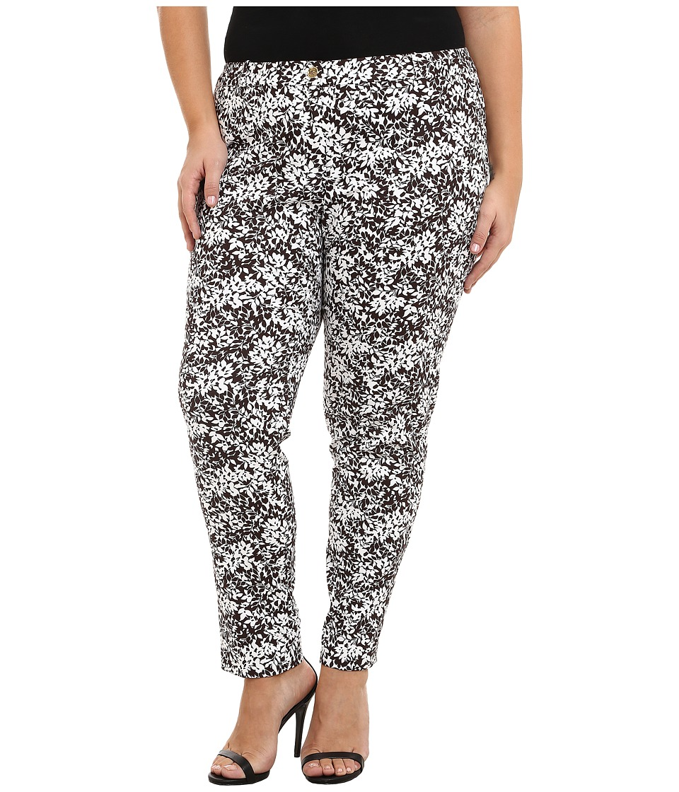MICHAEL Michael Kors - Plus Size Blubell Miranda Pants (Chocolate/White) Women's Casual Pants