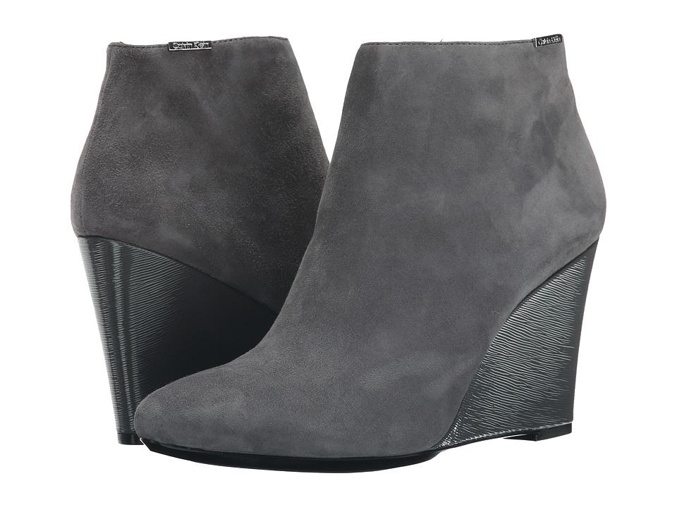 Calvin Klein - Charlaine (Shadow Grey Kid Suede/Patent) Women