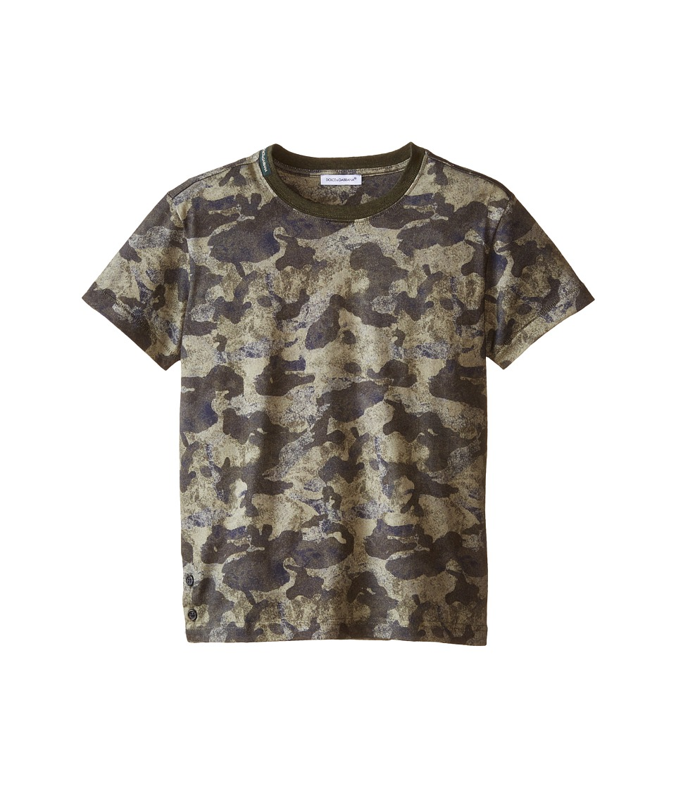 Dolce & Gabbana Kids - Camo Print T-Shirt (Toddler/Little Kids) (Multi) Boy's T Shirt