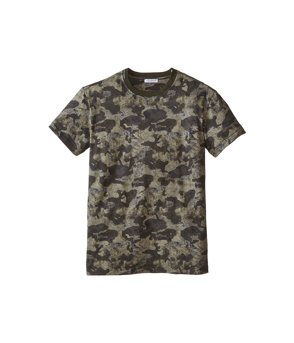 Dolce & Gabbana - Camo Print T-Shirt (Big Kids) (Multi) Men's T Shirt