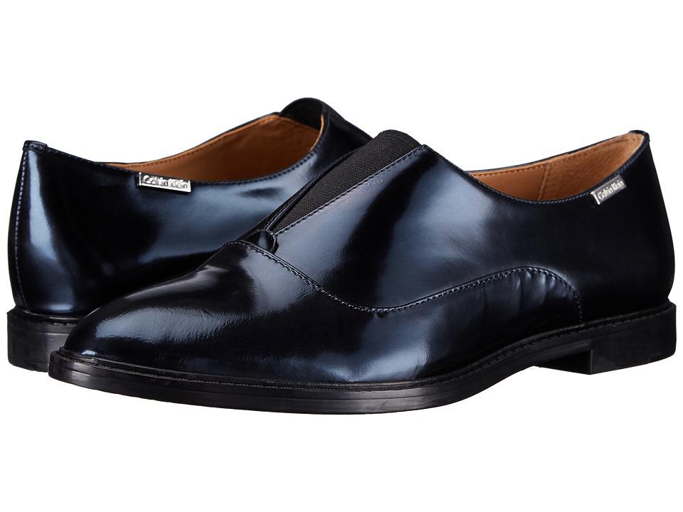 Womens Shoes Calvin Klein Daphne Perla Nera Metallic Box/Elastic