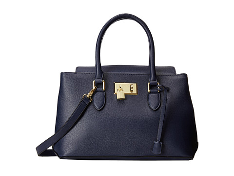London Fog - Darby Satchel (Navy) Satchel Handbags