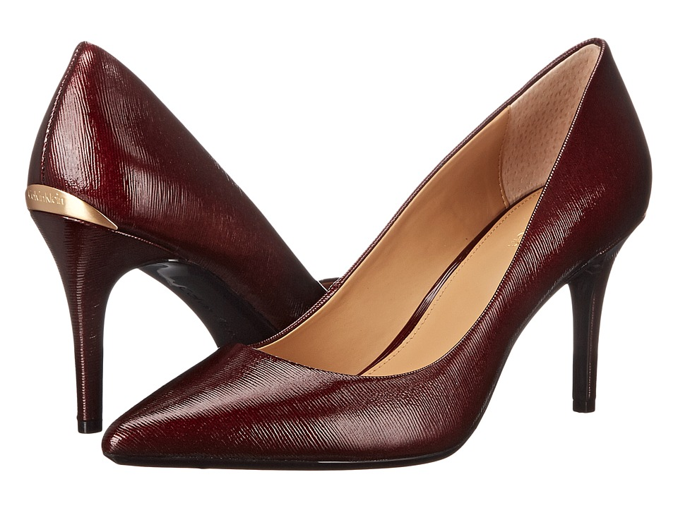 Calvin Klein - Gayle (Dark Cherry Liquid Patent) High Heels