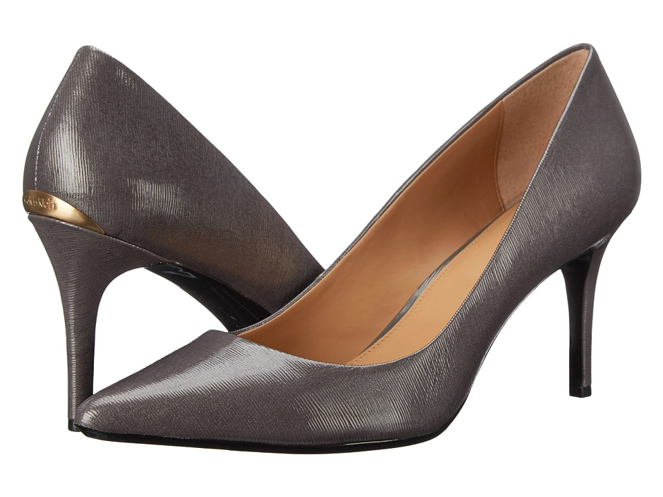 Calvin Klein - Gayle (Shadow Grey Liquid Patent) High Heels