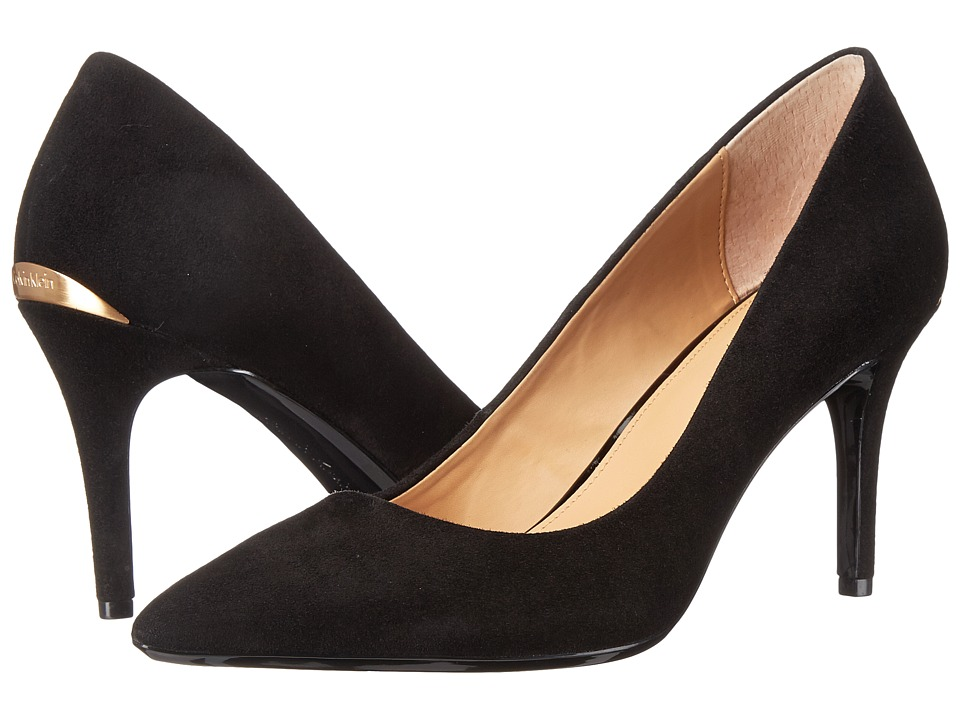 Calvin Klein - Gayle (Black Kid Suede) High Heels