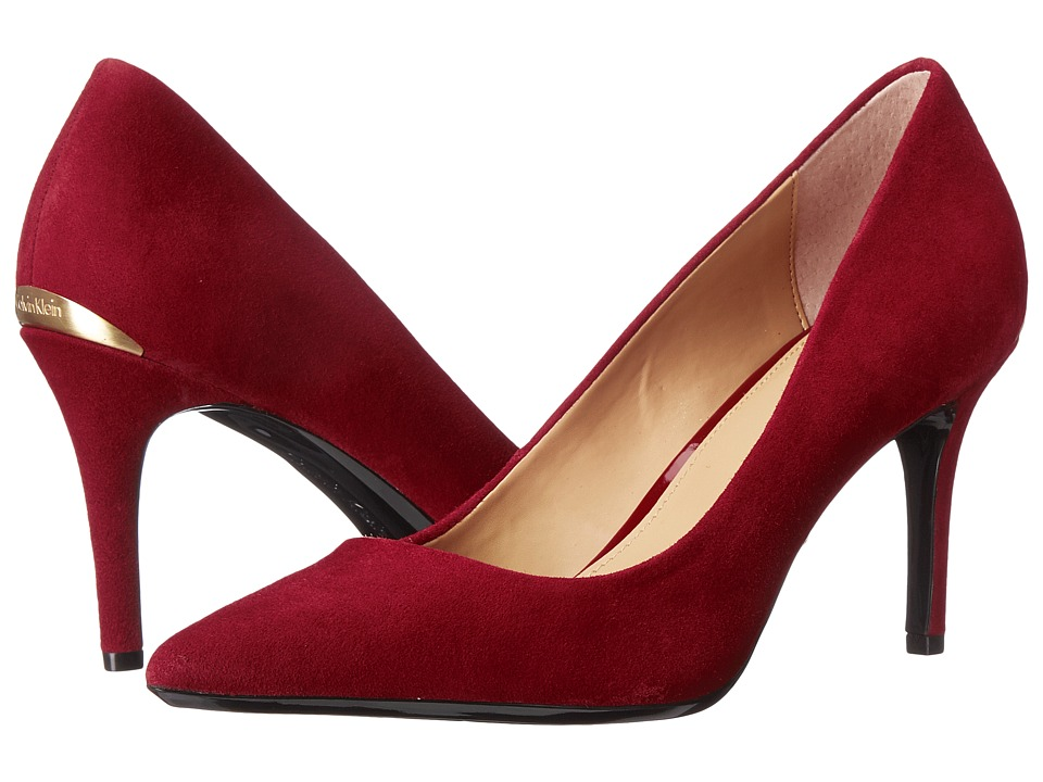 Calvin Klein - Gayle (Dark Red Kid Suede) High Heels