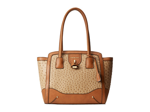 London Fog - Lark East/West Tote (Sand Ostrich) Tote Handbags