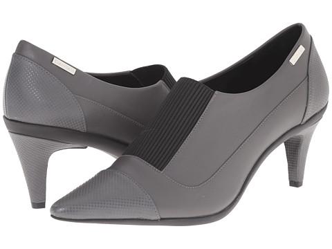 Calvin Klein - Greta (Shadow Grey Leather/Elastic) High Heels