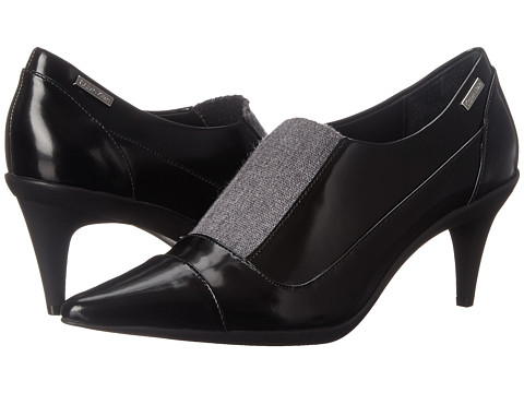 Calvin Klein - Greta (Black Box Leather/Elastic) High Heels