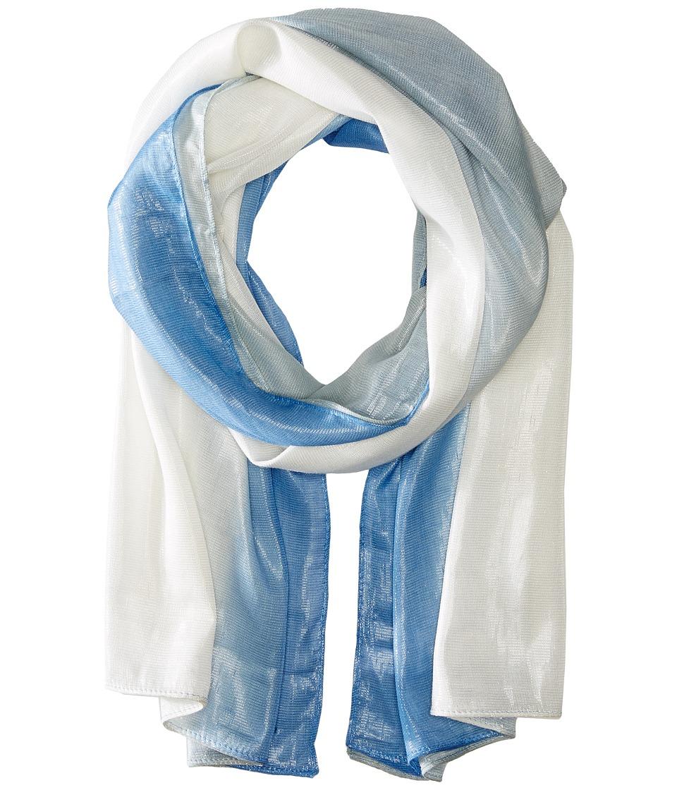 Calvin Klein - Dip Dye Liquid Lurex Scarf (Blue Mist) Scarves