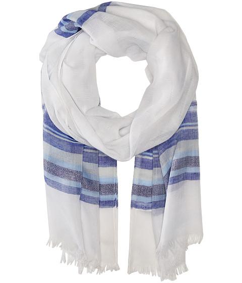 Calvin Klein - Textured Stripe Scarf II (Gray) Scarves