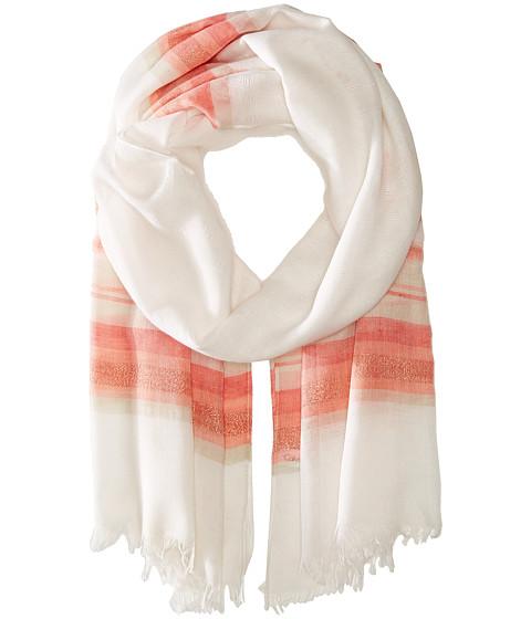 Calvin Klein - Textured Stripe Scarf II (Hibiscus) Scarves