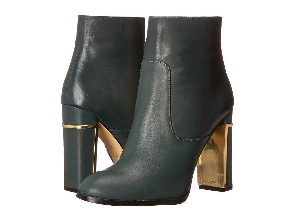 Calvin Klein - Karlia (Evergreen Leather) Women's Dress Zip Boots