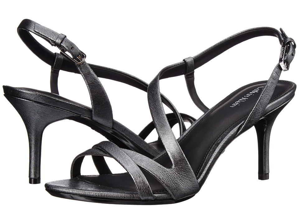 Calvin Klein - Lorren (Pewter Leather) Women's Dress Sandals