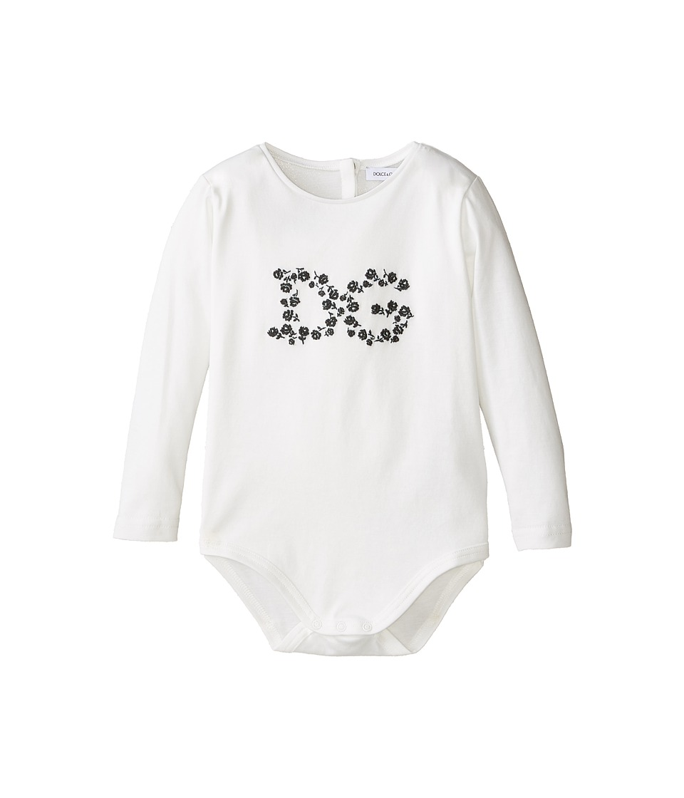 Dolce & Gabbana Kids - Logo One-Piece (Infant) (White) Girl's Jumpsuit & Rompers One Piece