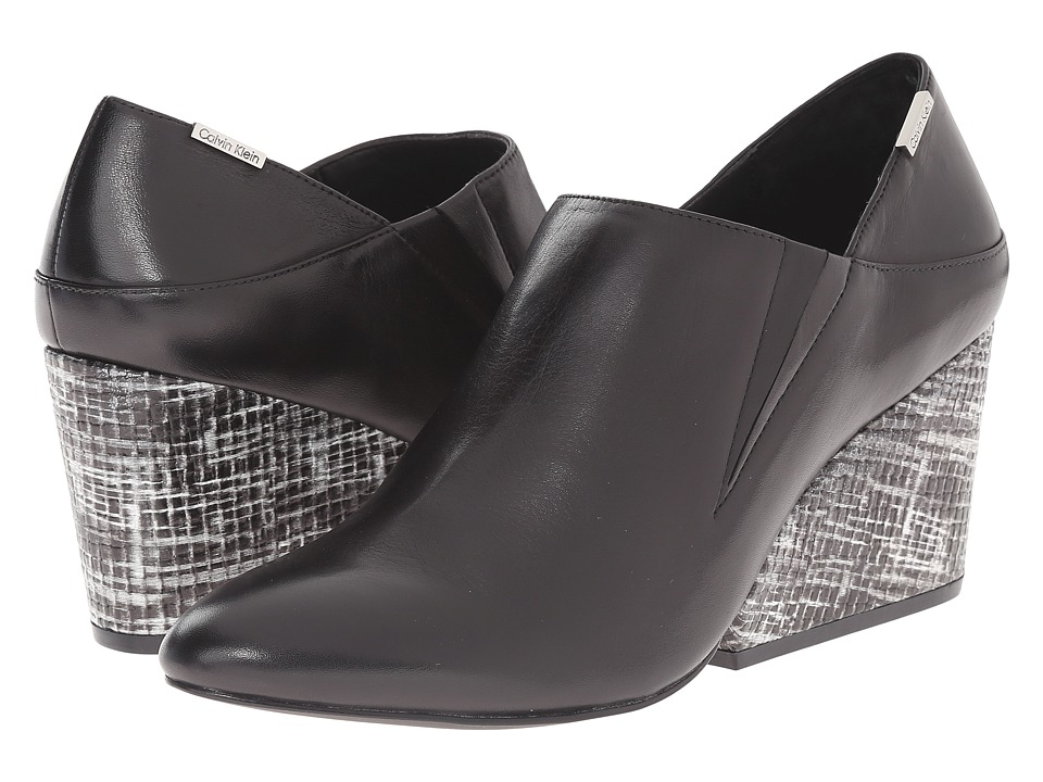 Calvin Klein - Carine (Black/Mixed Black Leather) Women