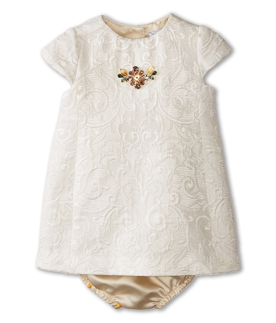 Dolce & Gabbana Kids - Ceremony Embroidered Dress Set (Infant) (White) Girl's Active Sets