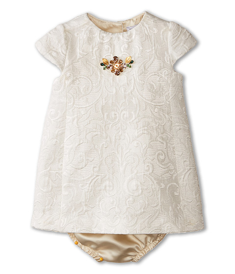 Dolce & Gabbana - Ceremony Embroidered Dress Set (Infant) (White) Women