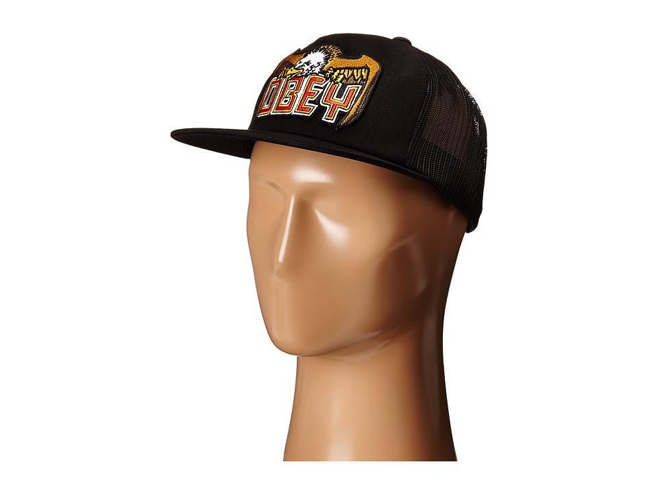 Obey - Eagle Eye Trucker (Black) Caps