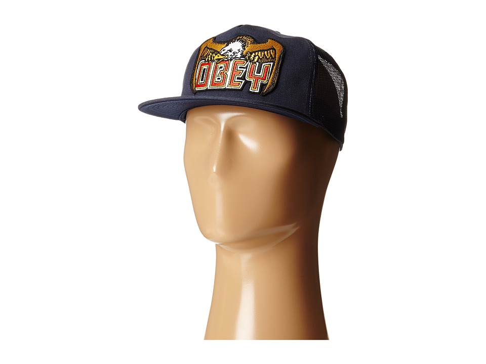 Obey - Eagle Eye Trucker (Navy) Caps