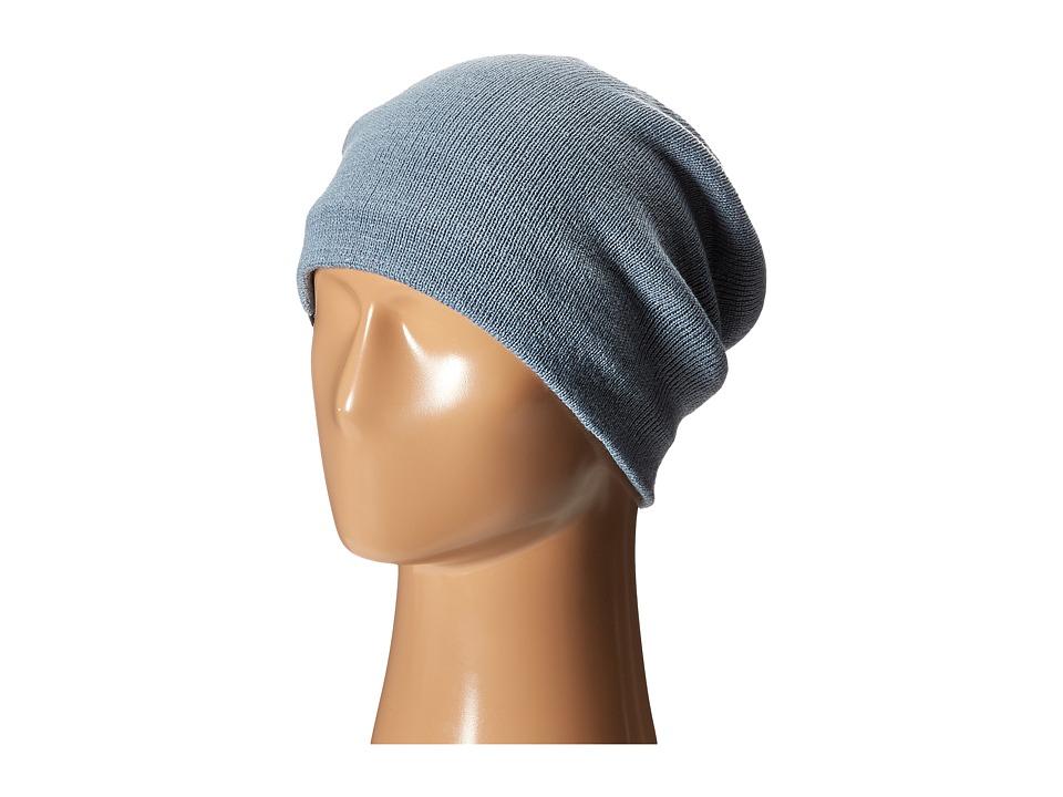 Plush - Fleece - Lined Barca Hat (Steel Blue) Beanies
