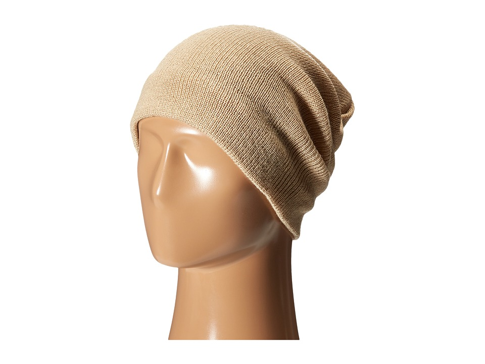 Plush - Fleece - Lined Barca Hat (Tan) Beanies