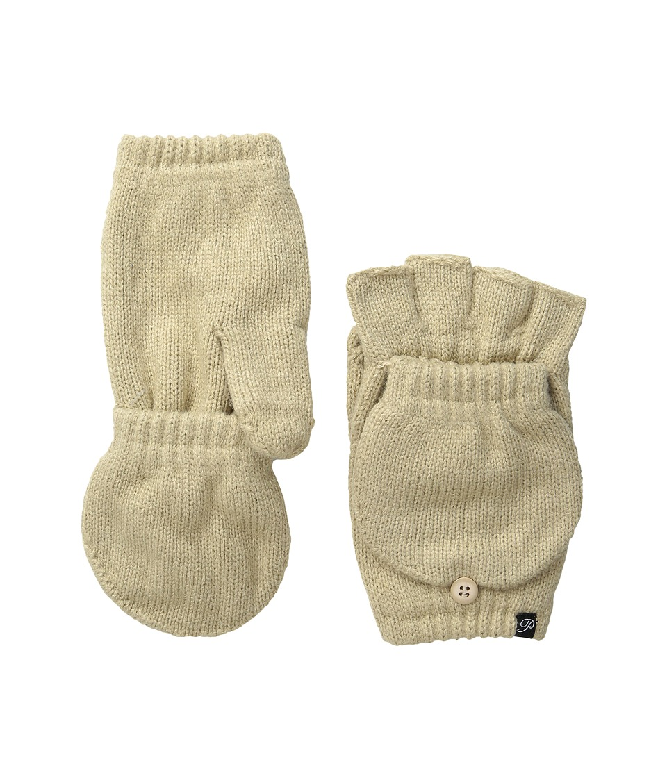 Plush - Fleece-Lined Texting Mittens (Tan) Dress Gloves