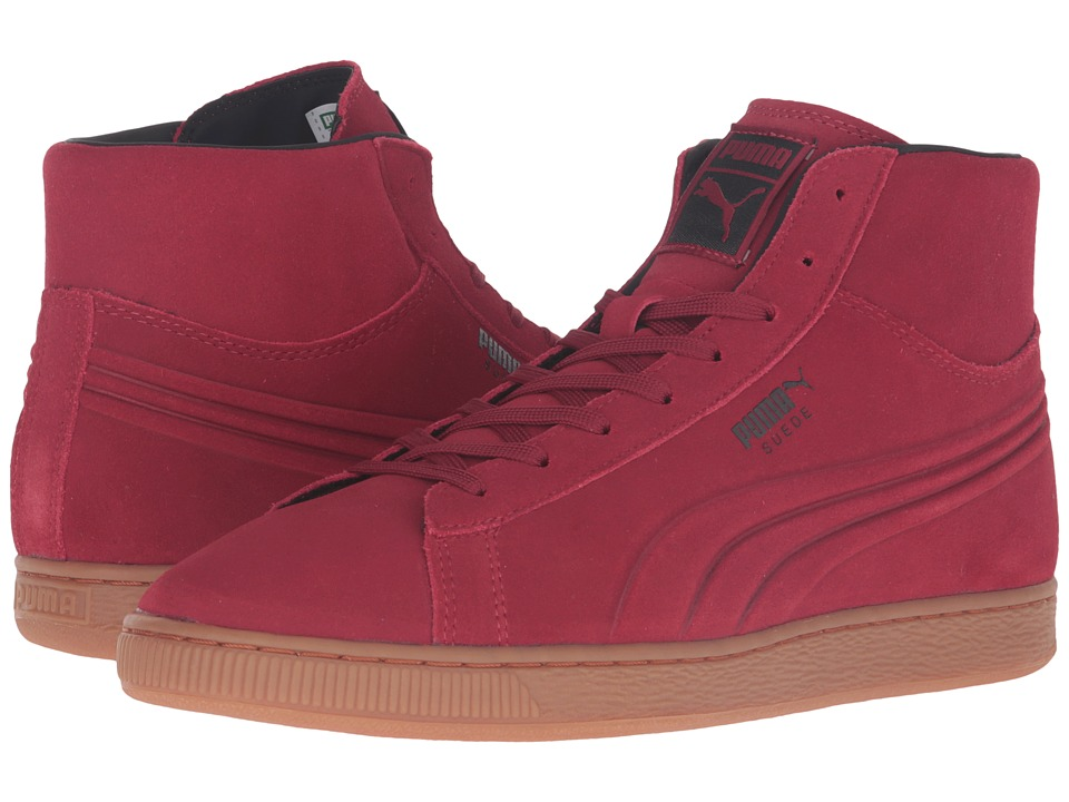 PUMA - Suede Mid Silicone Emboss (Rio Red) Men's Shoes