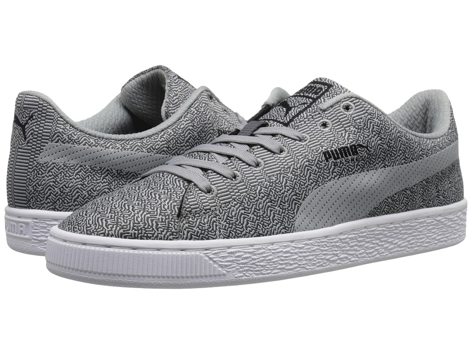 PUMA - Basket Classic Woven (Dark Shadow/Limestone/Gray/Black) Men