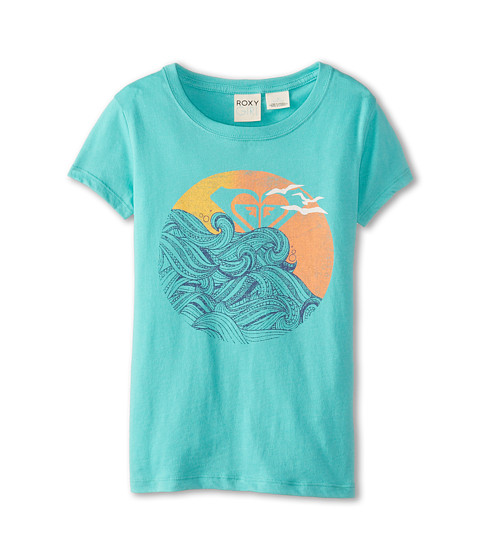 Roxy Kids - Set Waves Basic Crew (Big Kids) (Waterfall) Girl