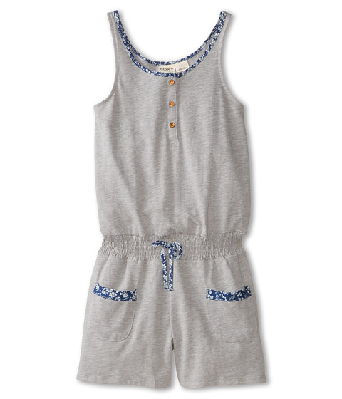 Roxy Kids - Seasail Romper (Big Kids) (Herge Heather) Girl's Jumpsuit & Rompers One Piece