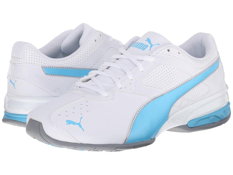 PUMA - Tazon 6 (White/Blue Atoll) Women's Shoes
