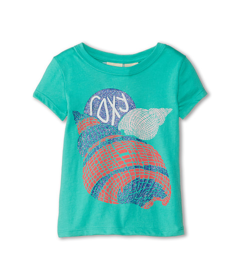 Roxy Kids - Twist Shell Basic Crew (Toddler/Little Kids/Big Kids) (Waterfall) Girl's Clothing