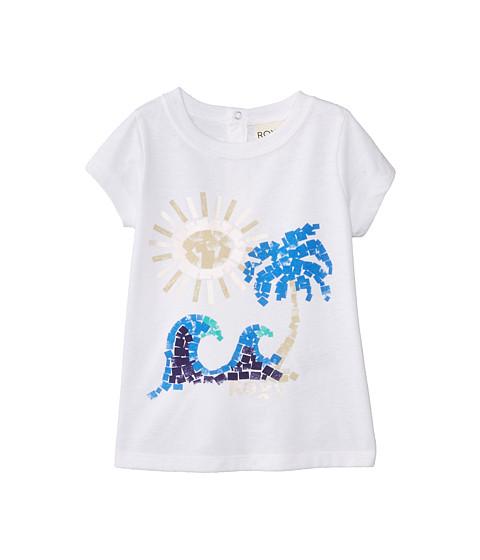 Roxy Kids - Paint Beach Crew Tee (Infant) (Sea Salt) Girl