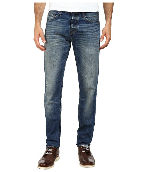 True Religion - Rocco Slim Jeans in Blue (Blue) Men