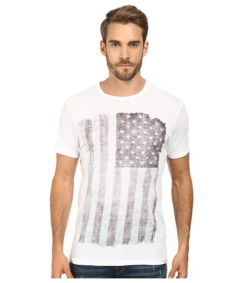True Religion - Flag Crew T-Shirt Short Sleeve (White) Men's T Shirt