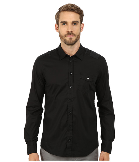 True Religion - Richard Shirt (Black) Men's Long Sleeve Button Up