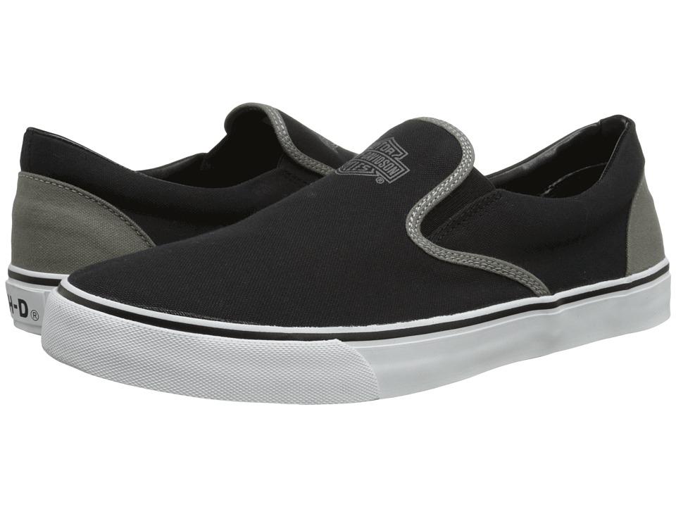 Harley-Davidson - Marchmont (Black/Grey) Men's Slip on Shoes