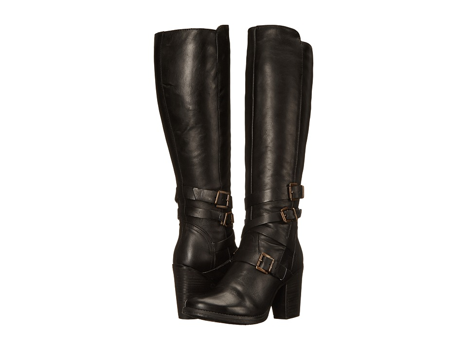 Steve Madden - York (Black Leather) Women